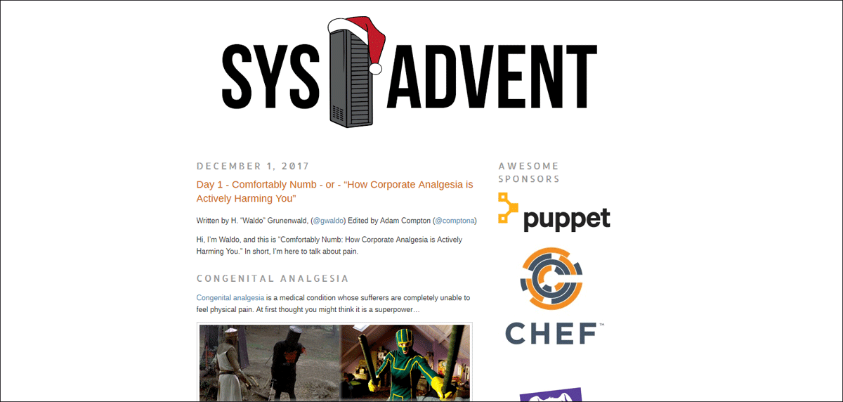 Sys Advent Calendar 2017.