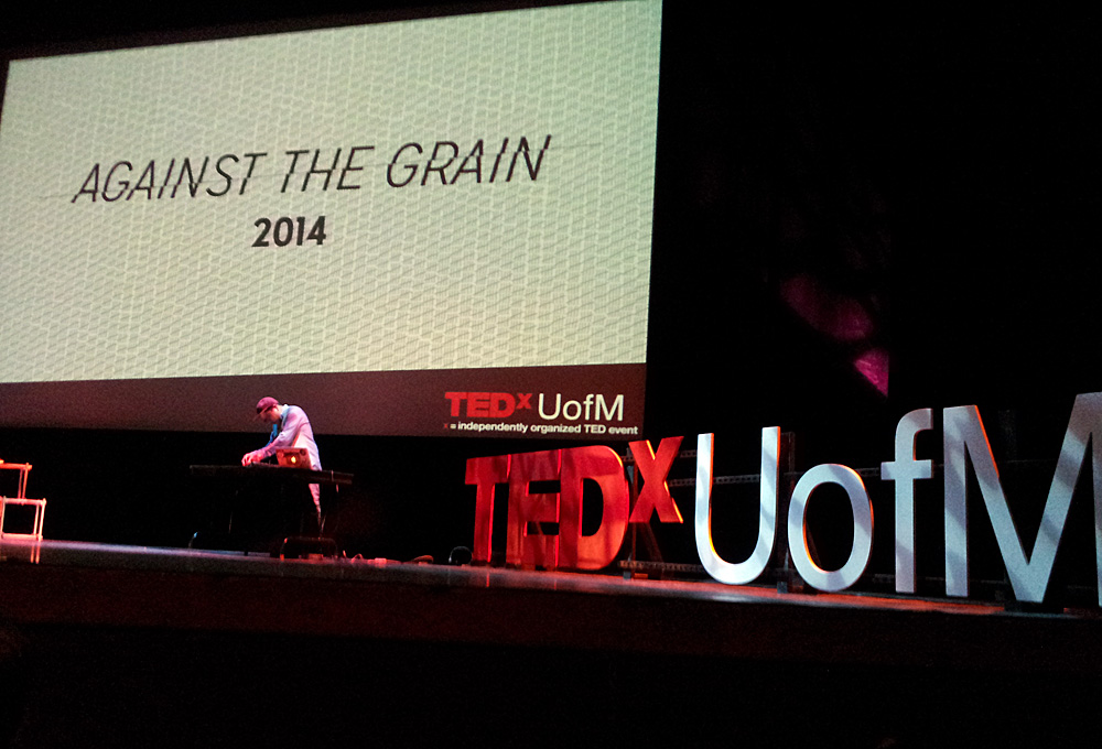 TEDxUofM 2014 stage at the Power Center