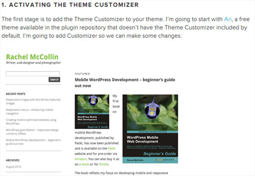 how to activate the theme customizer
