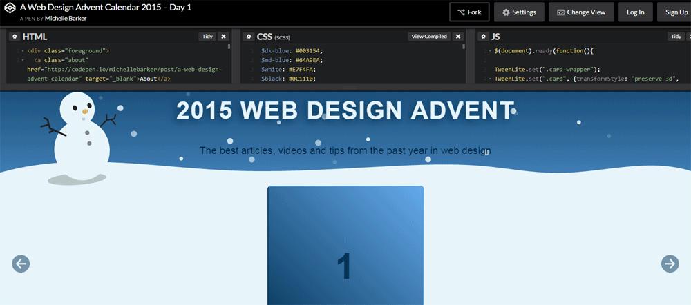 Web Design Advent Calendar