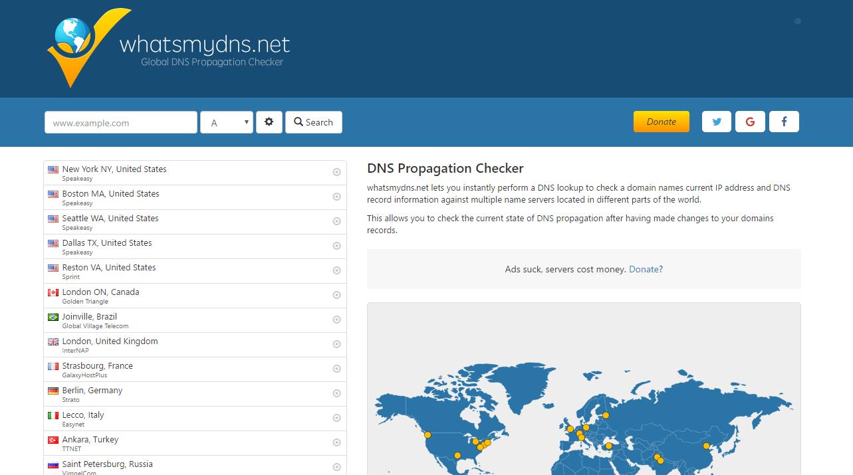 WhatsMyDNS: DNS Propagation Checker