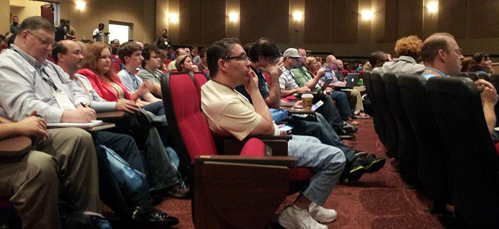 WordCamp Orlando attendees in auditorium