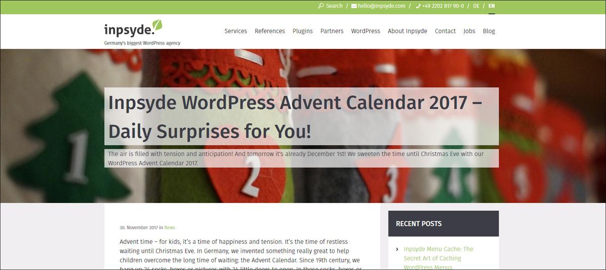 WordPress Advent Calendar 2017.