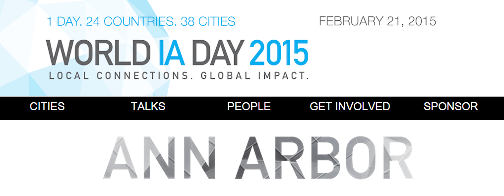 World Information Architecture Day 2015