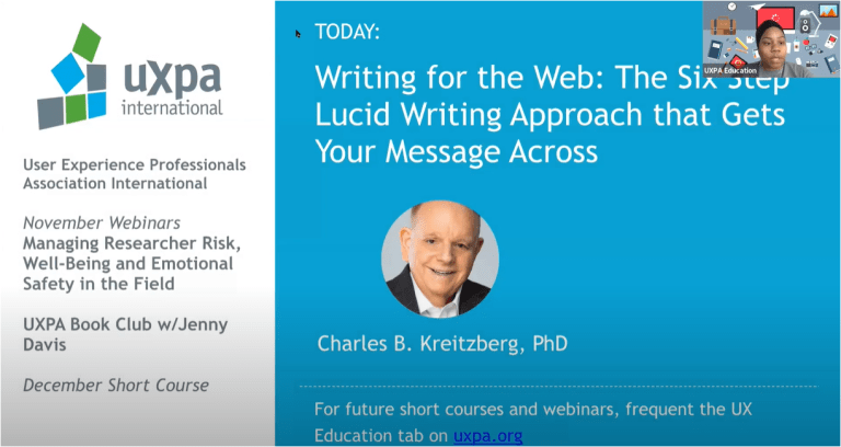 Writing for the Web: The Six Step LUCID Writing Approach that Gets Your Message Across.