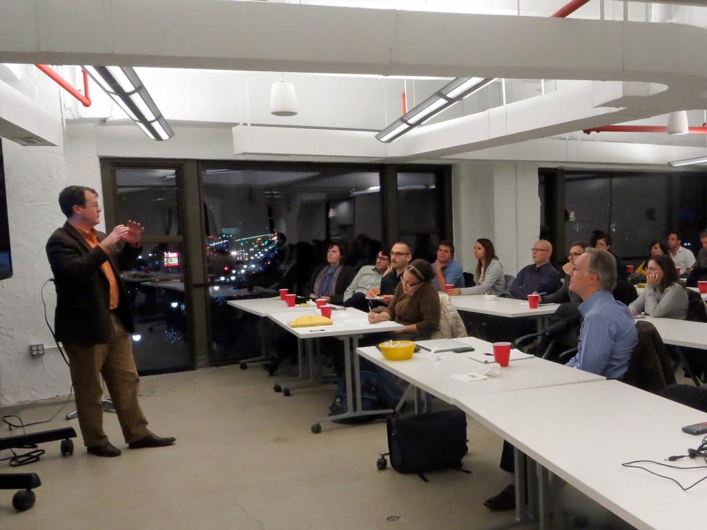 Steve Tengler presenting at World Usability Day Detroit 2013