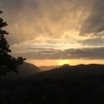 Zonsondergang in Albanië