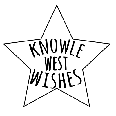 five stars of wishes love, kindness, luck, growth, movement working in Knowle West