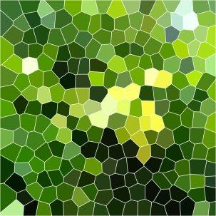 leaves on a tree are hidden in mosaic it is an oak tree