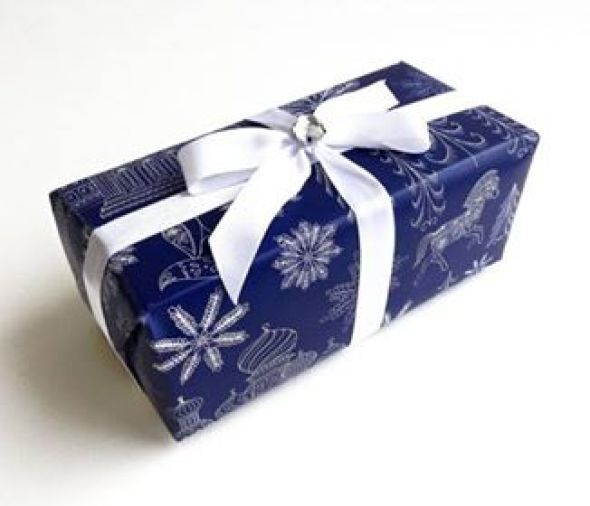Jackie's wrapped present