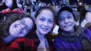 Our family at the concert.
