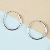 Small Sterling Silver Hoop Earrings | Lisa Angel