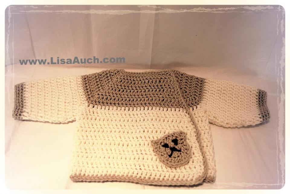 Crochet-baby Sweater or baby cardigan Patterns-free crochet baby patterns
