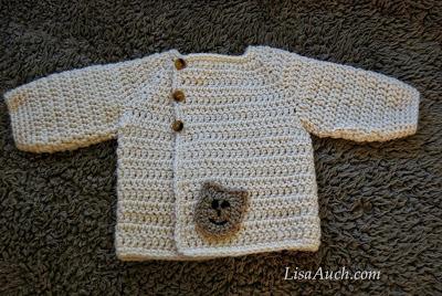 Had crochet baby cardigan