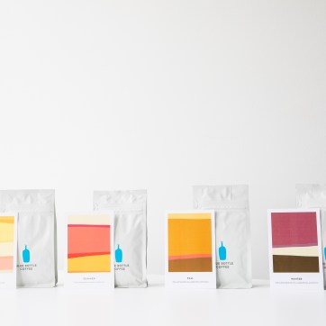 """""""Year in Coffee"""" Seasonal Blend coffee cards color management."""