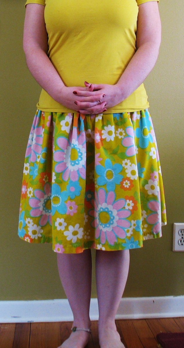 I like my skirts fast and cheap: a tutorial