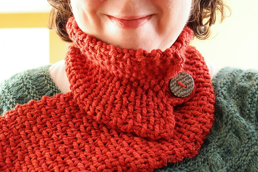 Luxurious Loom-Knit Neckwarmer