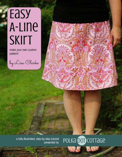 Easy A-Line Skirt, tutorial at Polka Dot Cottage