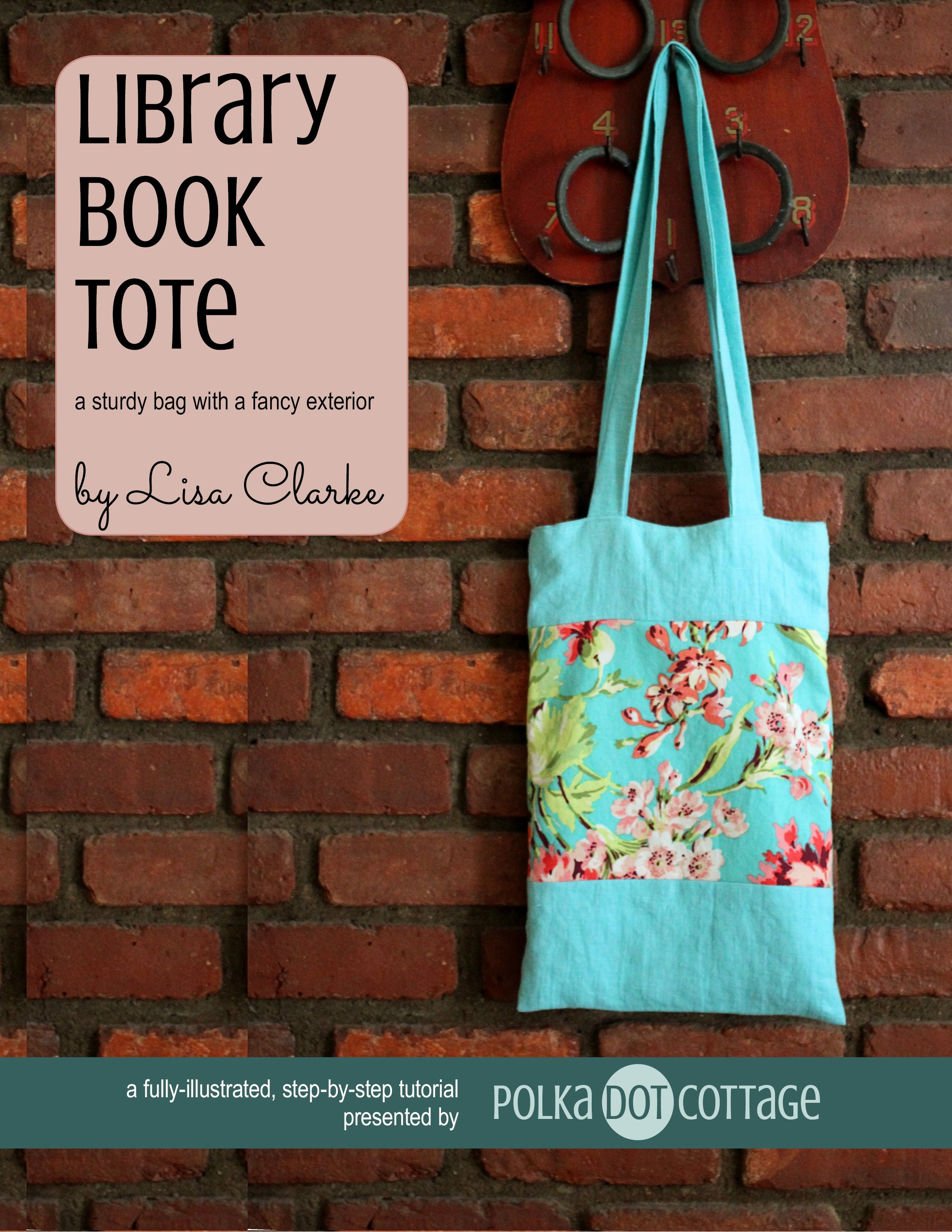 Library book tote polka dot cottage library book tote fandeluxe Gallery