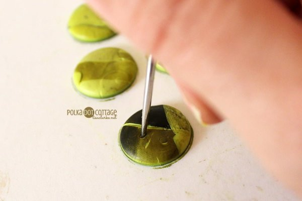 Rustic Polymer Clay Buttons, tutorial from Polka Dot Cottage
