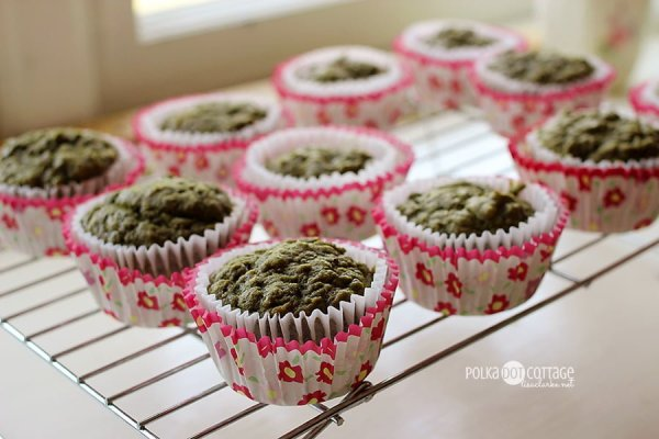 Green Tea Banana Muffins, at Polka Dot Cottage