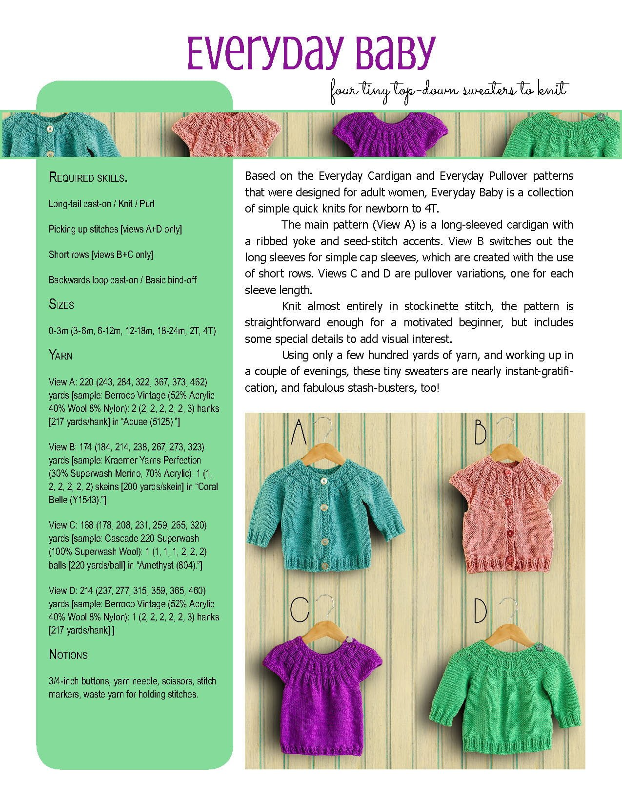 6850a58f5c2b7 Everyday Baby knitting pattern from Polka Dot Cottage