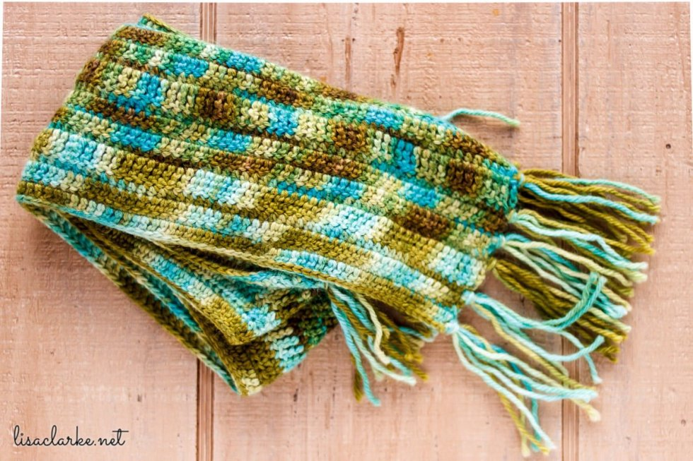 Lucky Charm Scarf crochet pattern at Polka Dot Cottage