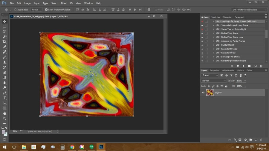 Using Polymer Clay Canes to Make Repeating Patterns in Photoshop: Cropping the Transformed Image