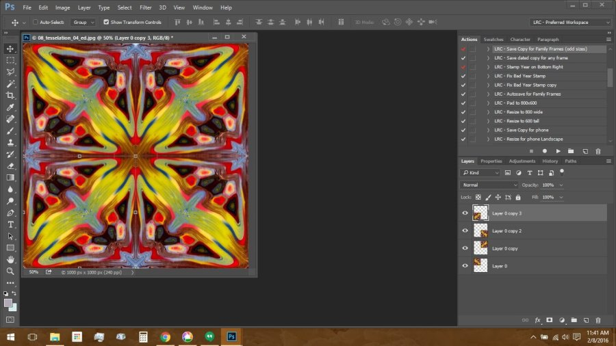 Using Polymer Clay Canes to Make Repeating Patterns in Photoshop: Finished Tesselation