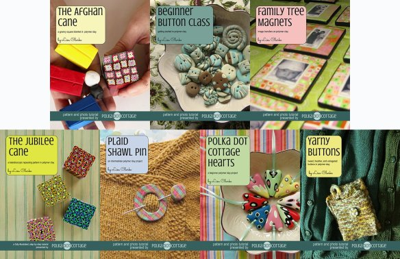 Polymer clay tutorials by Lisa Clarke at Polka Dot Cottage