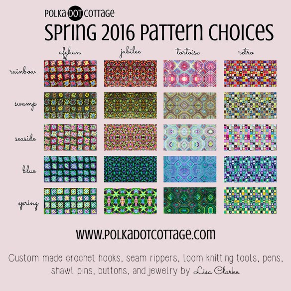 The Spring 2016 Pattern Choices at Polka Dot Cottage