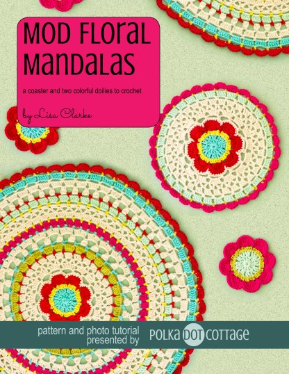 Mod Floral Mandalas Crochet Pattern