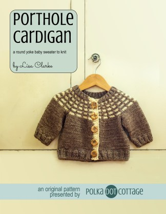 Porthole Cardigan Sweater Knitting Pattern for Baby