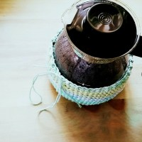 Crocheted Coffee Pot Cozy