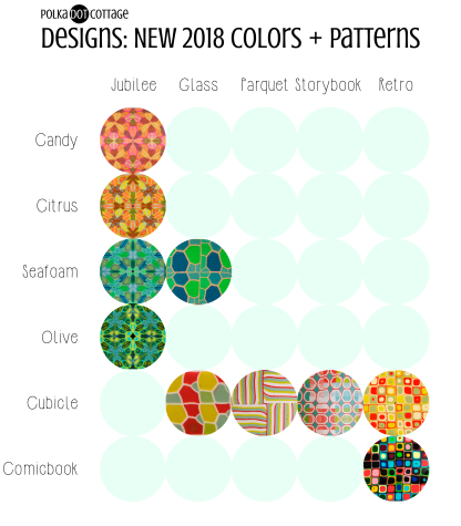 Polka Dot Cottage Designs: New 2018 Colors + Patterns