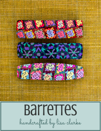 Polka Dot Cottage Barrettes