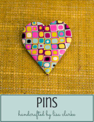 Polka Dot Cottage Handcrafted Pins