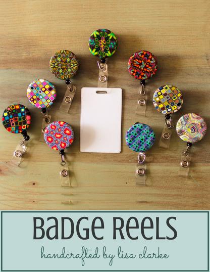 Polka Dot Cottage Retractable Badge Reels