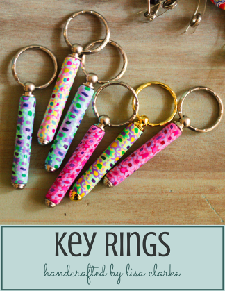 Polymer Clay Covered Key Fobs