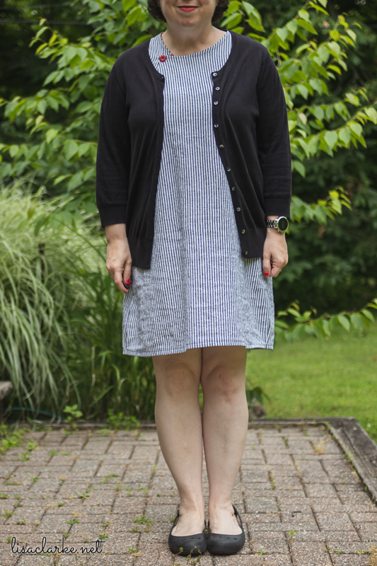 Sewing Summer Sheath Dresses: Black and White Stripes