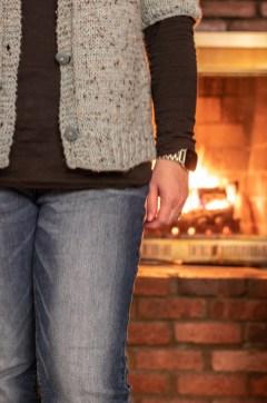 Fireside Cardigan Knitting Pattern, Short Sleeve Version