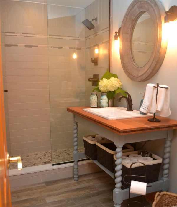Modern Cottage Bathroom Renovation Lisa Goulet Design