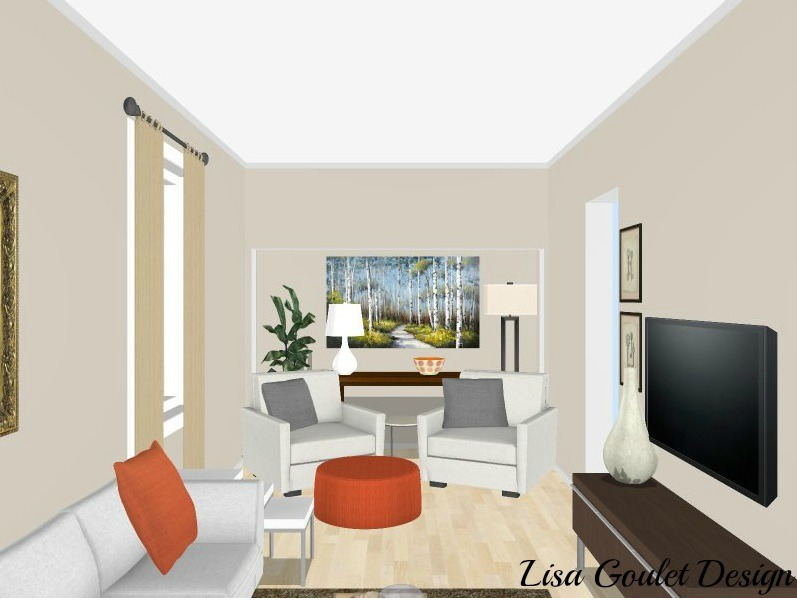 how to design long narrow living room teal accent pieces furnish and love a in 5 easy steps option