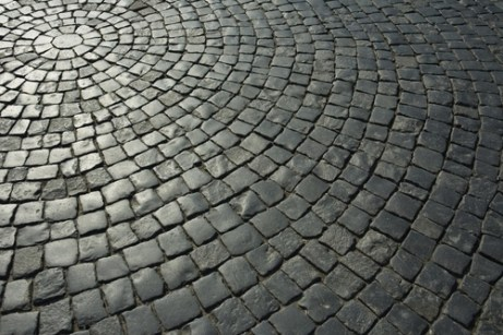 image of street with stones in circular pattern demonstrating home organizer value of order