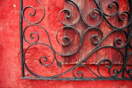 image of architectural detail ornate metal gate, Peru, demonstrating home organizer value of finding beauty everywhere
