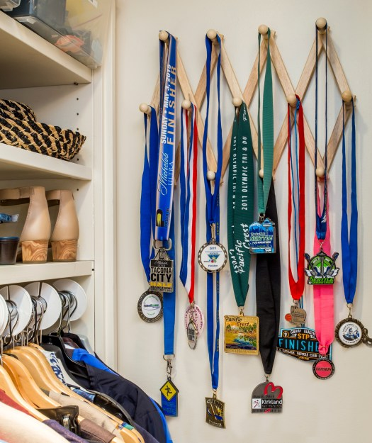 display of athletic event medals