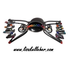 Bon Bon Bow Tie Midnight Graffiti Rainbow Crystals