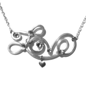 Love Bracelet Silver Black and White