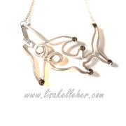 Pool Shark Matthew Silver Shark Necklace with Moonlight Crystals