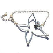 Butterfly Anklet Silver Moonbeams
